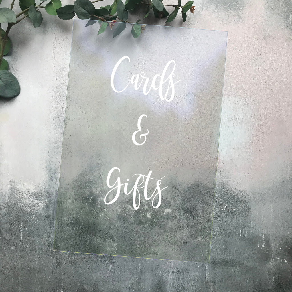 Cards & Gifts Acrylic Wedding Sign