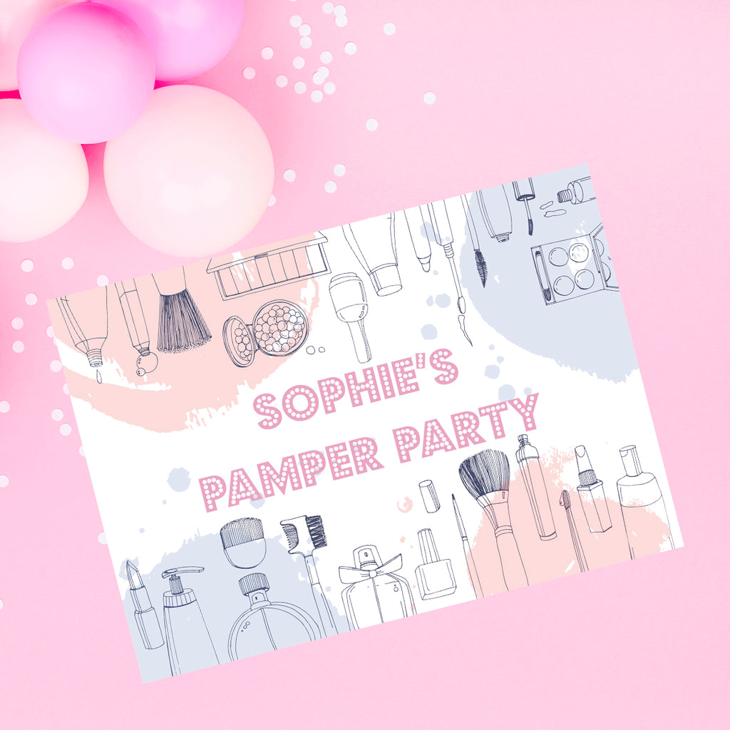 PAMPER PARTY SIGN - Birthday party Sign, party decor