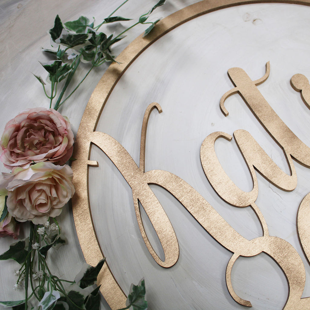 WOODEN BIRTHDAY HOOP -  Perfect for Birthday party decor Flower wall decor
