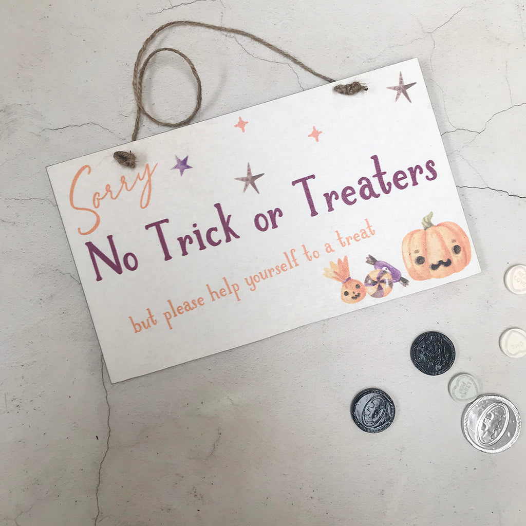 Halloween Sign - Self Service Trick or Treat Sign
