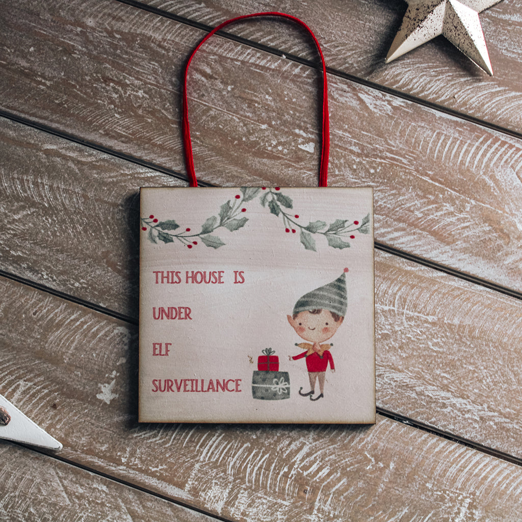 CHRISTMAS SIGN -  Elf  on the Shelf Sign