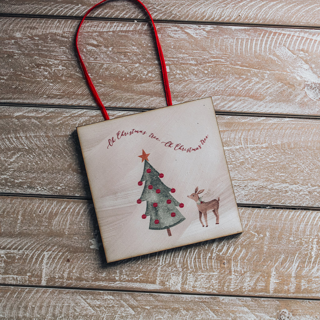 CHRISTMAS SIGN - Wooden Handcrafted Mini sign Decor