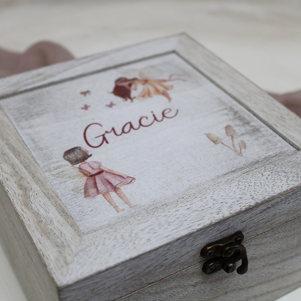 Wooden Keepsake Box - Perfect for Birthdays and Christmas to fill with treats, clips and bows and more