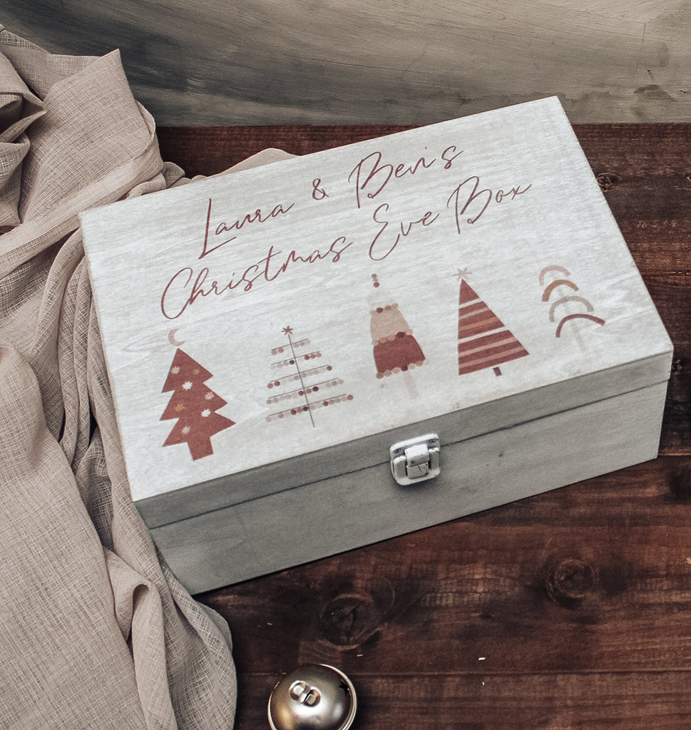 CHRISTMAS EVE BOX - Personalised Wooden Boho Christmas Box