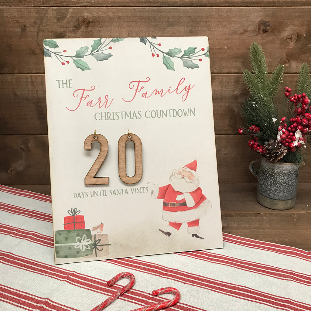 Christmas Countdown - Personalised with Family or childrens names