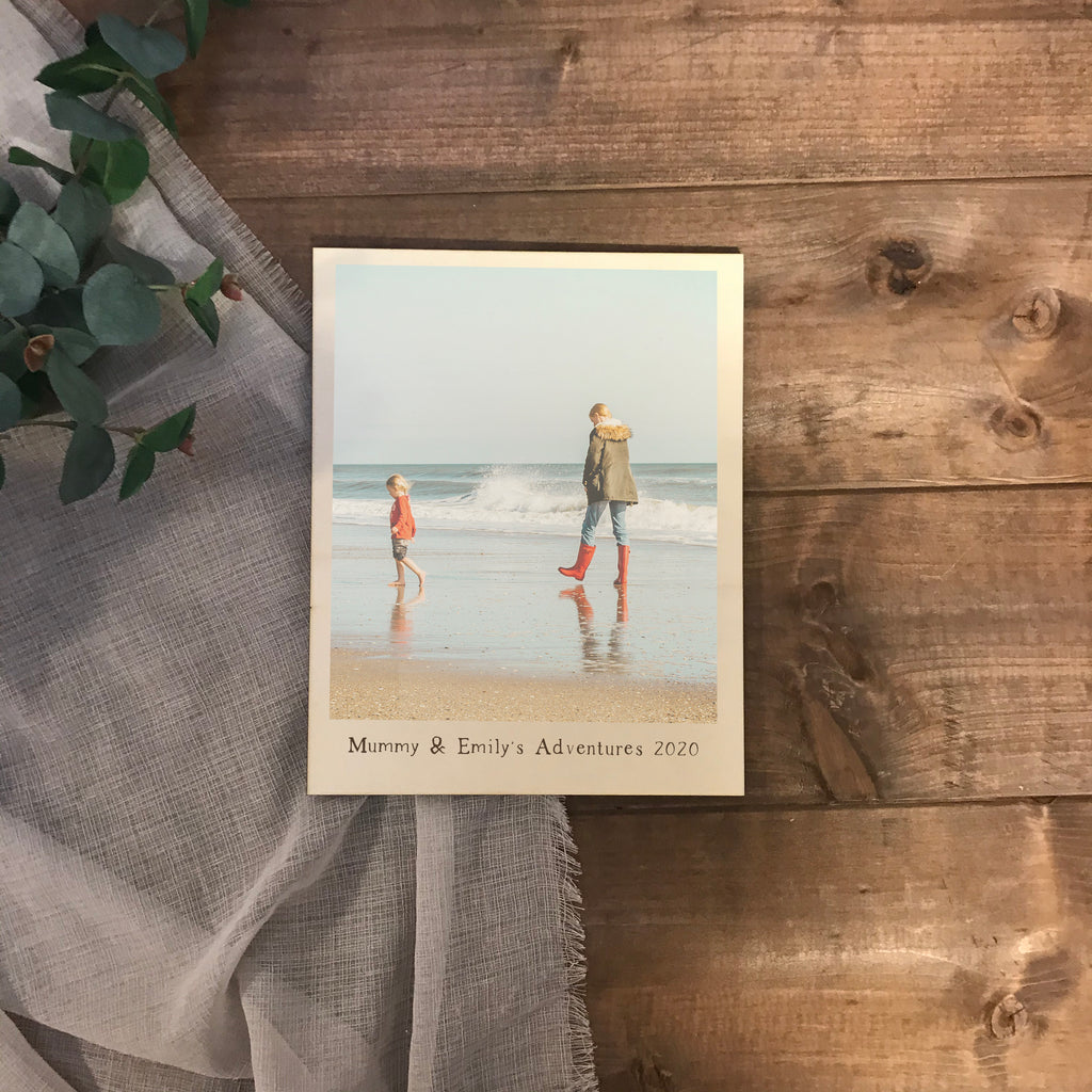 Printed Wooden Photo Gift  - Personalised printed wooden  photo