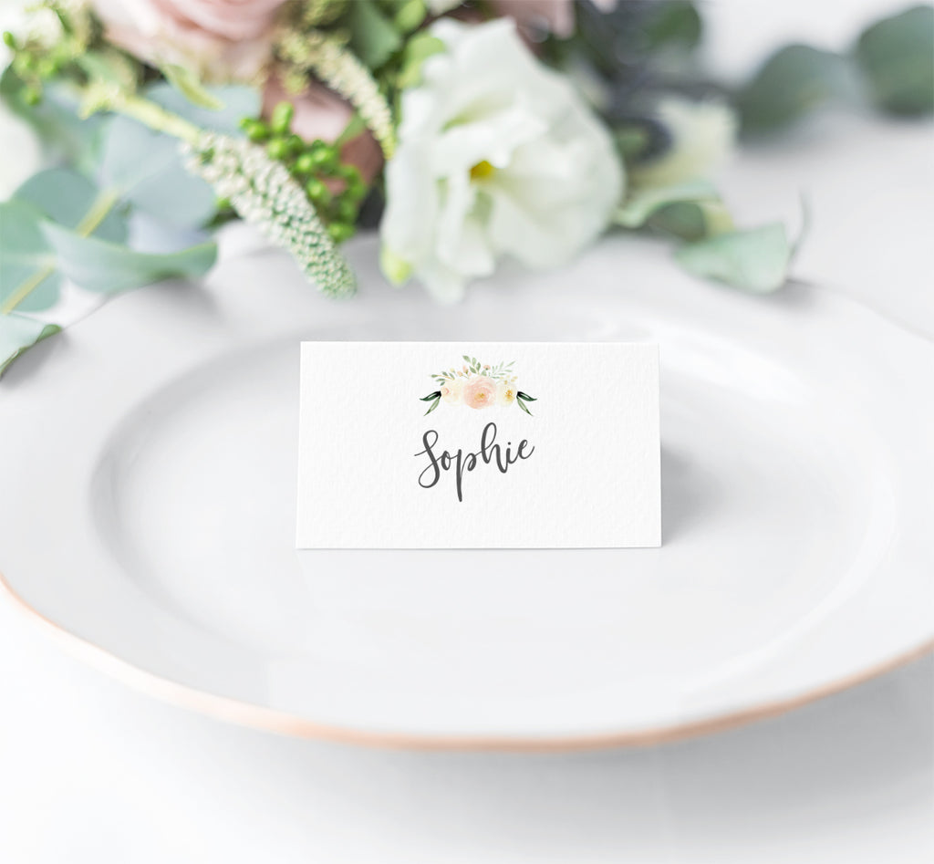 Wedding Place Name - Blush Floral