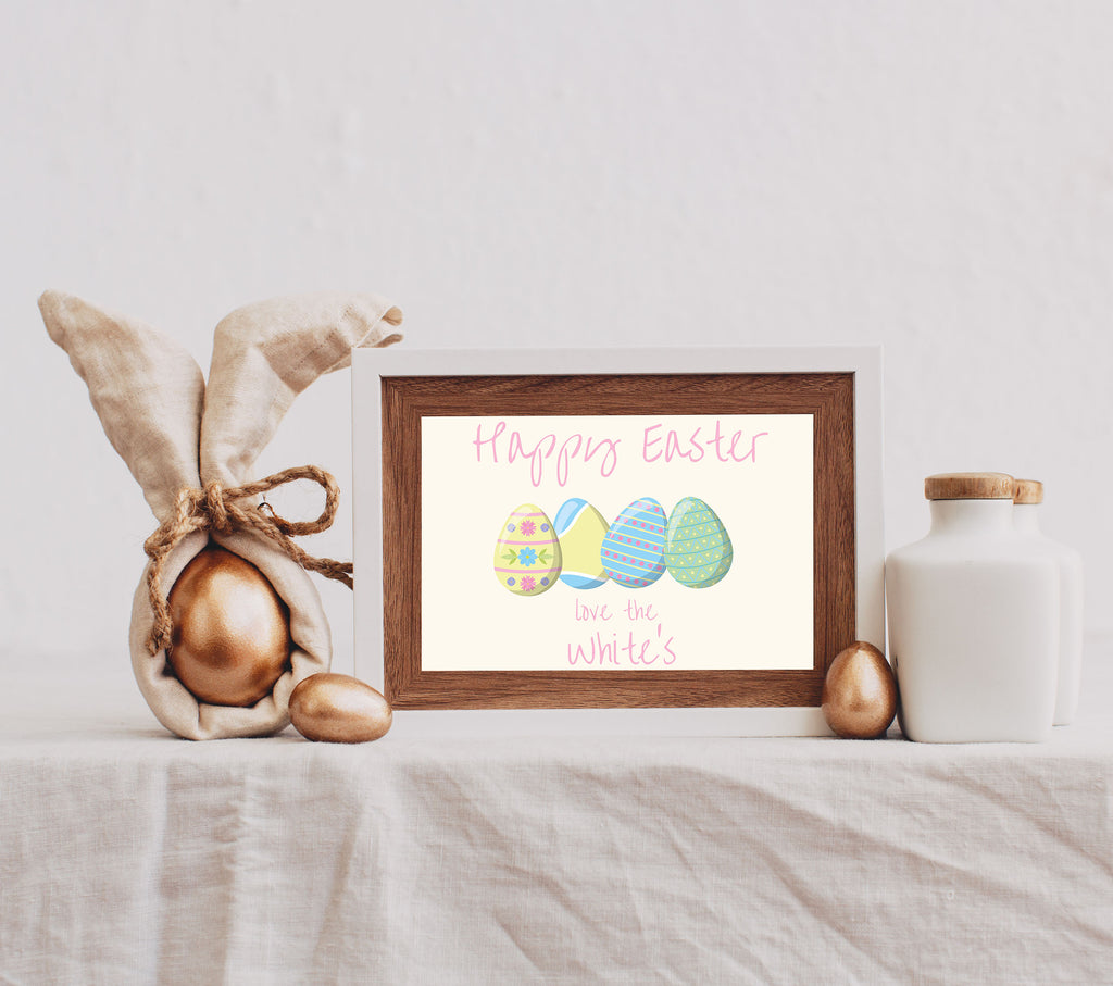 Easter Poster - Print your personalised Easter poster at home, perfect for your Virtual  Easter Lunch