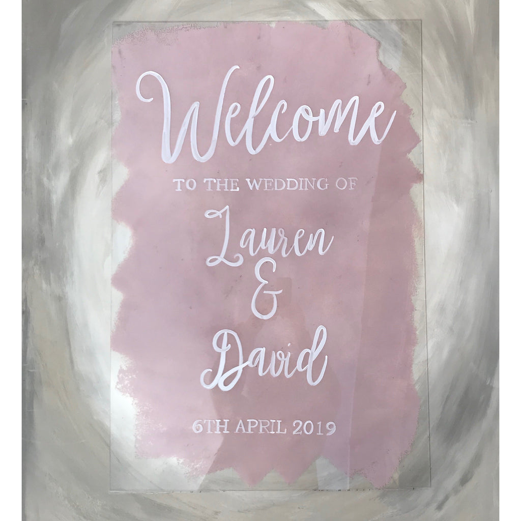 Custom Acrylic Wedding Sign
