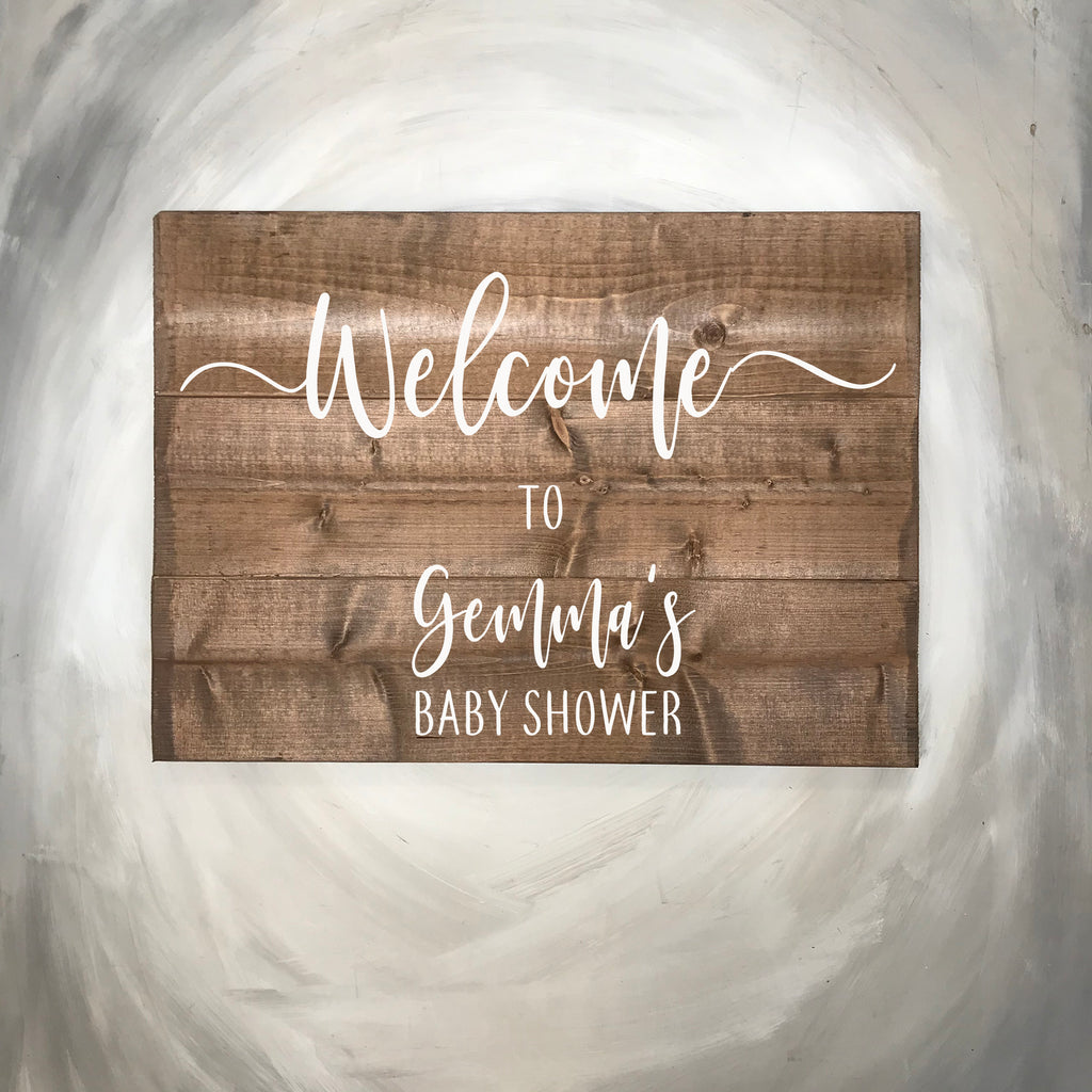 Rustic  Wooden Baby Shower  Sign