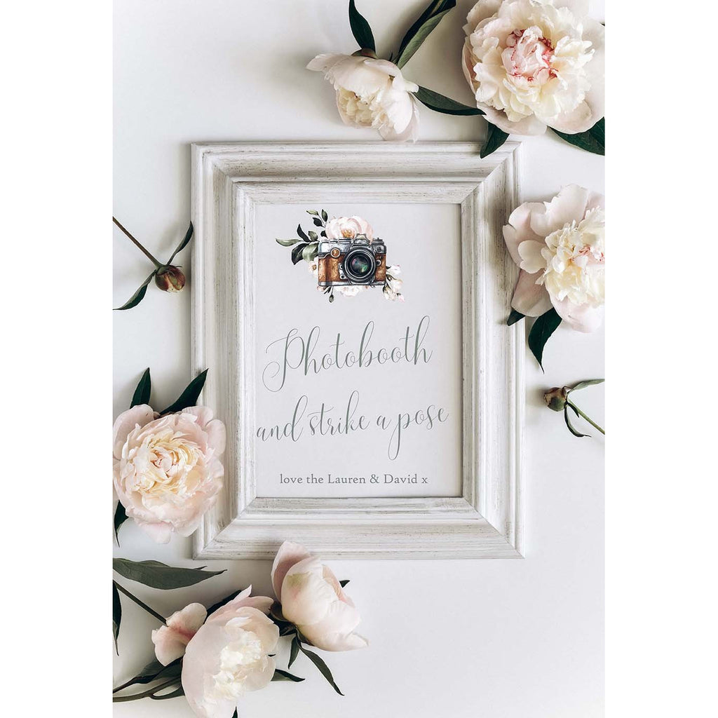 Printed Wedding Sign - Dusky Blue Sign Suite, Cards & Gifts, Photobooth, Sweet Table