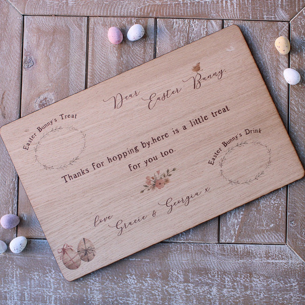 Easter Treat Board- Personalised Easter Bunny Treat Board
