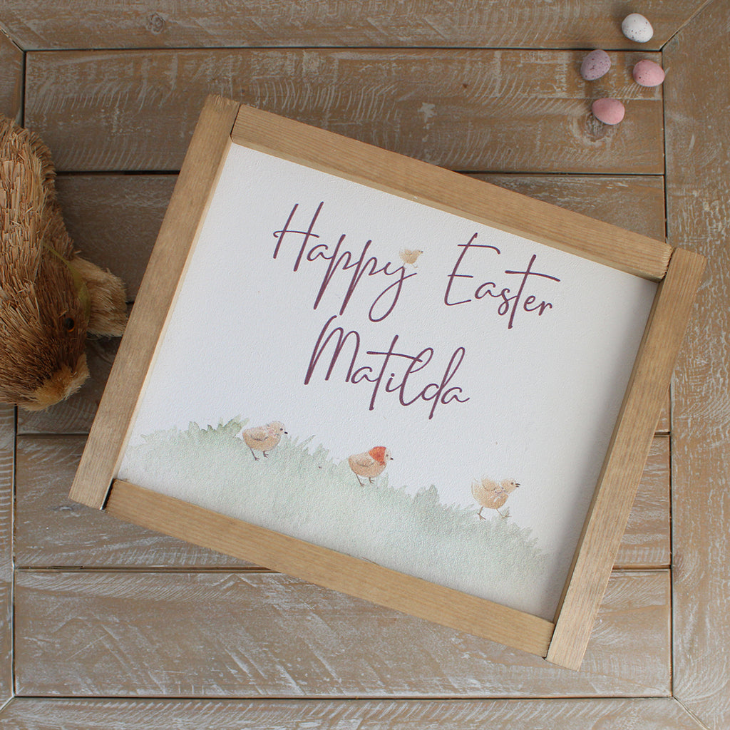 Easter Treat Box - Chicks  Easter Parade Personalised Wooden Box