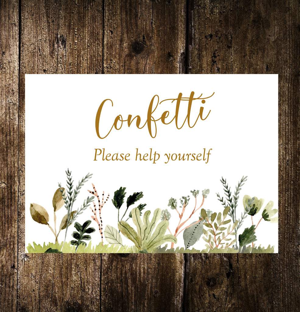 Wedding Signs - Forest Foliage, guestbook, card table , In memory and more