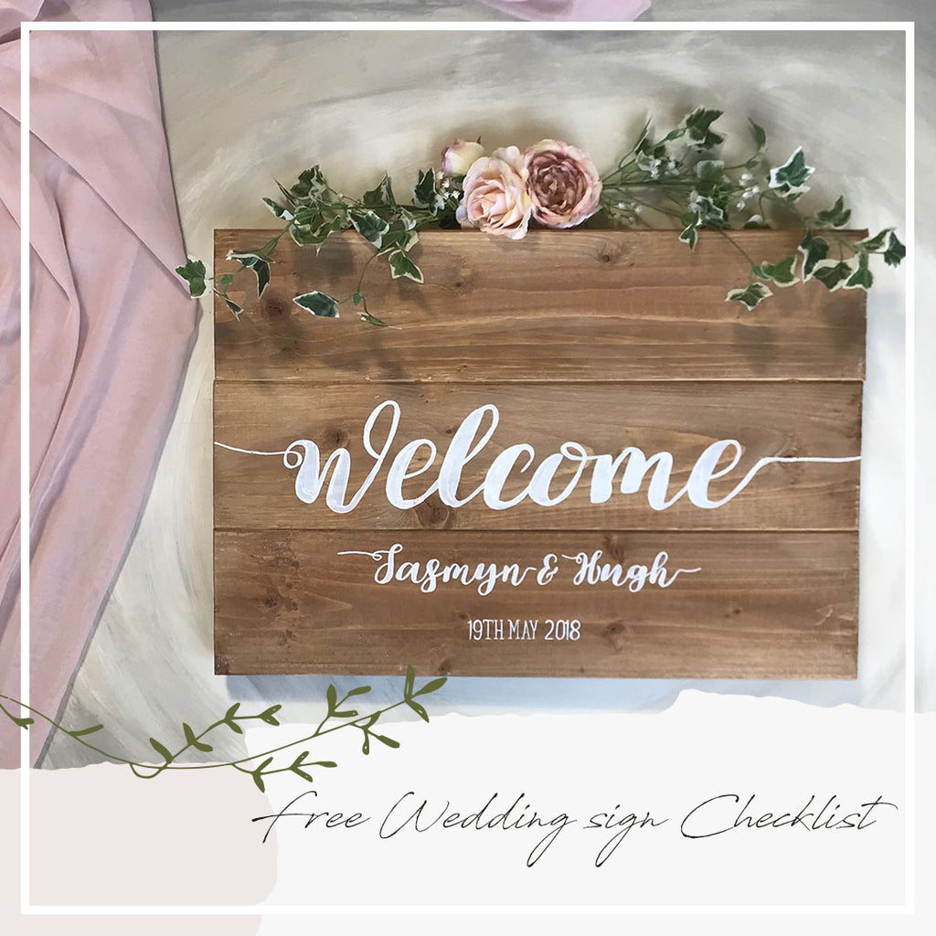 Free Wedding Sign Checklist