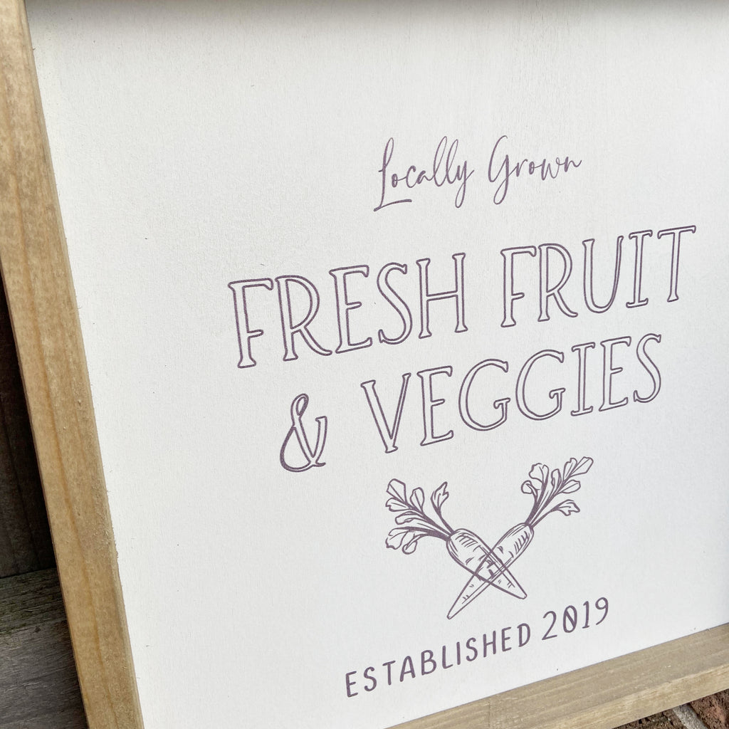 Rustic Frame Fresh Fruit & Veggies