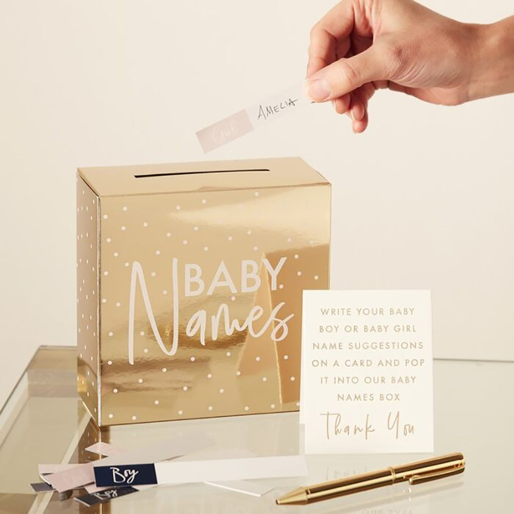 Baby Shower Name Game - Foiled Gold