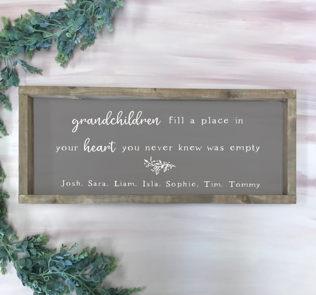 Rustic Farmhouse Sign - Personalised for grandparents