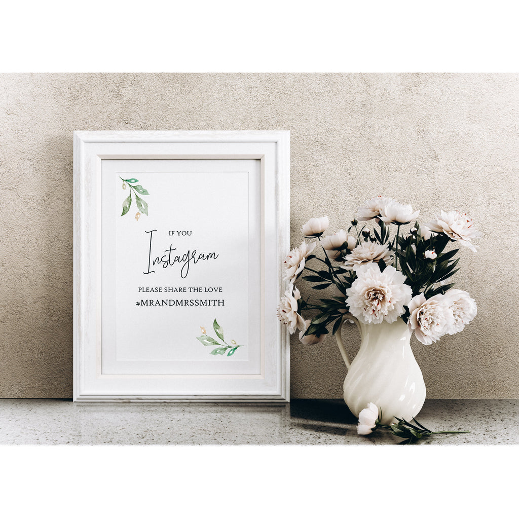 Printed Wedding Sign - Cards & Gifts, Photobooth, Sweet Table