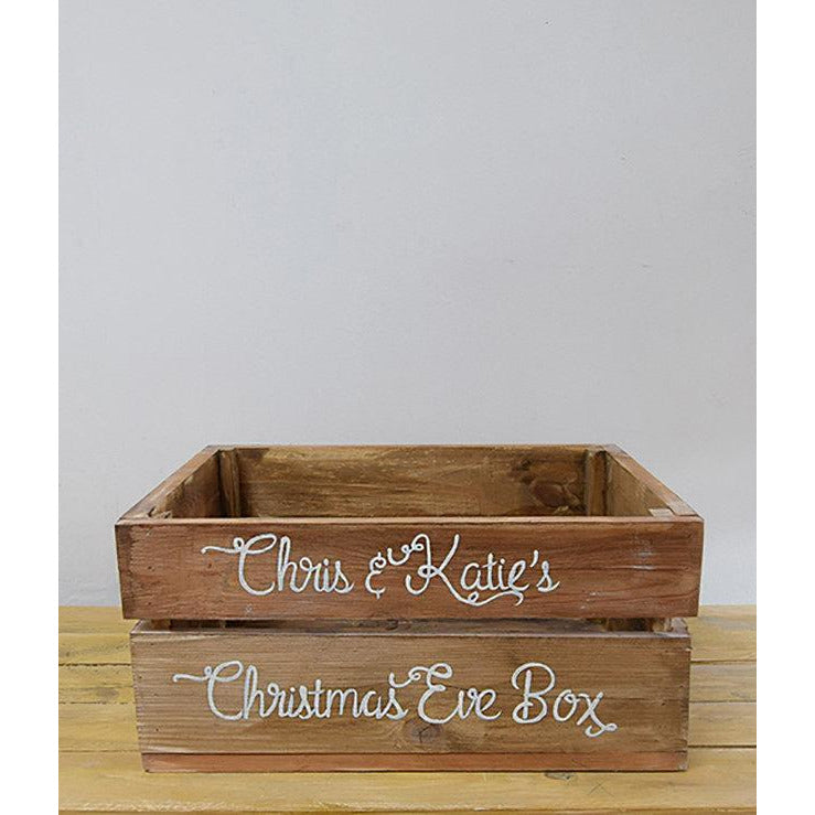 Hand Painted Christmas Eve Crate