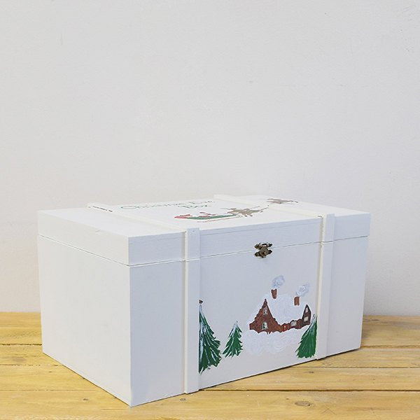 Hand Painted Christmas Eve Chest