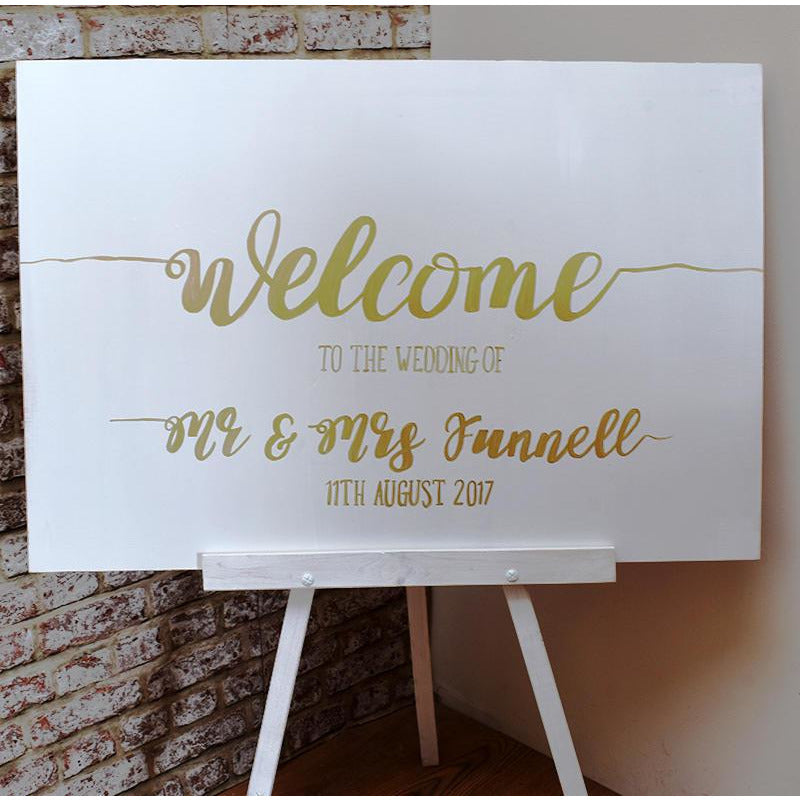 Rustic Wedding -  Painted Wooden Display Easel