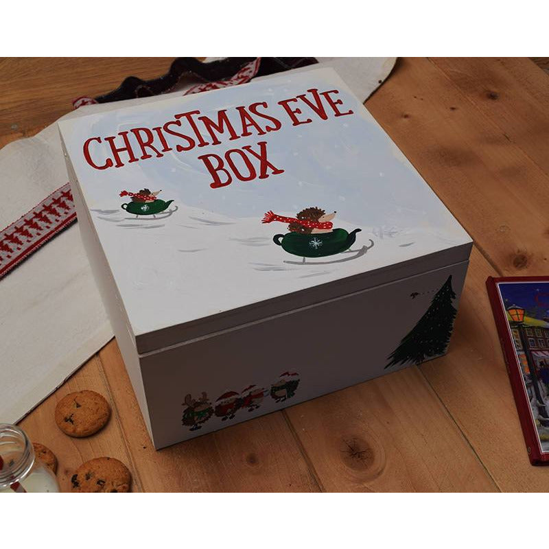 Handpainted Christmas Eve Box, Christmas Eve Box, Chritmas Box