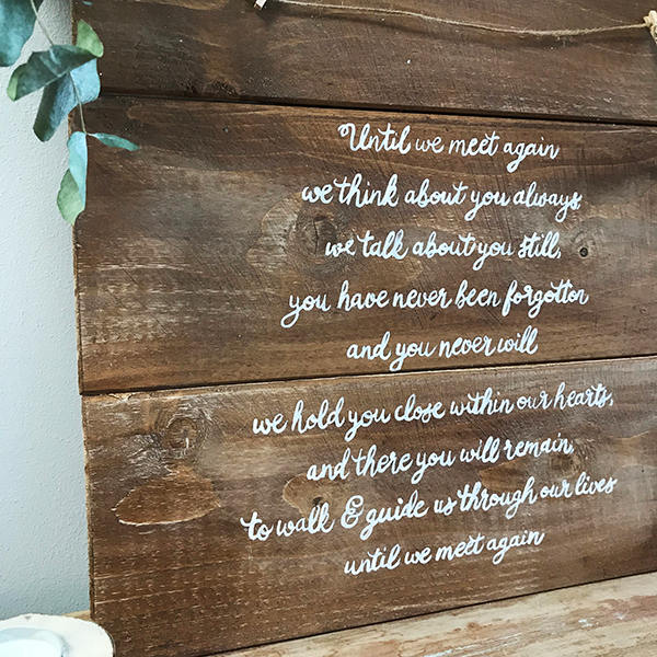Rustic Wedding Sign - Memory Board