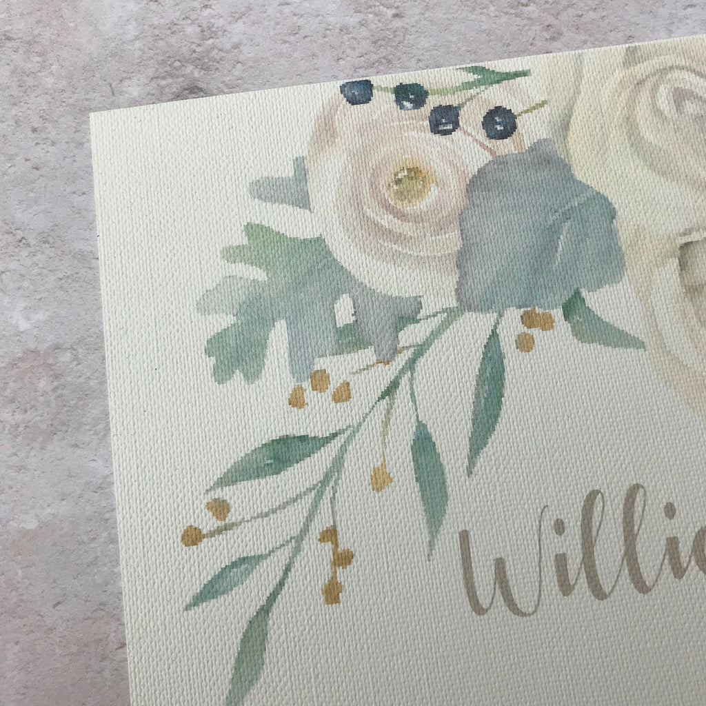 Wedding Order of the Day - White floral