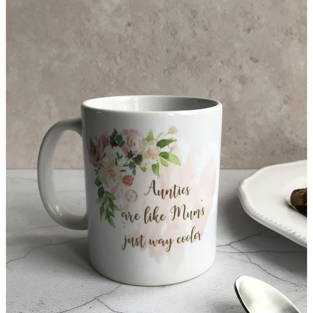 Personalised Auntie Mug, Gift for auntie, aunt, aunty,