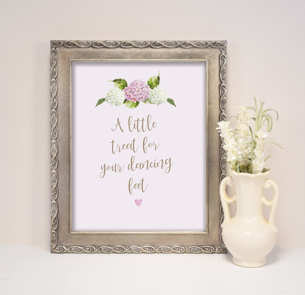 Printed Wedding Sign, 'Hydrangea' personalised sign for  cards & gifts, guestbook, sweet table, In Memory