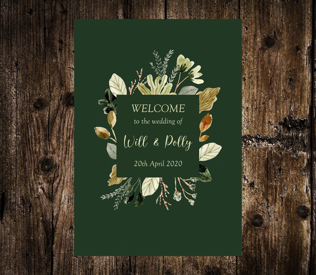 WEDDING SIGN -   WELCOME sign, printed or digital