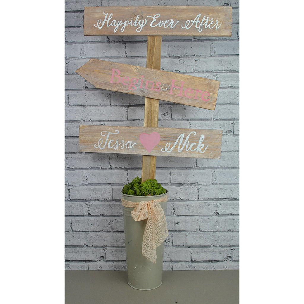 Rustic Wooden Freestanding Wedding Sign