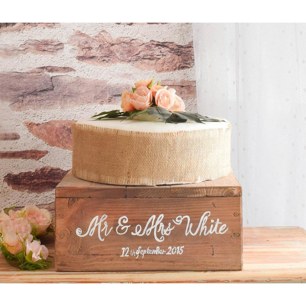Rustic Wooden Wedding Cake Stand