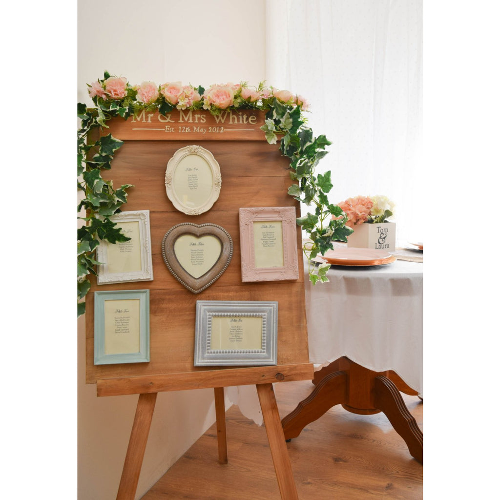 Wooden Wedding Table Plan