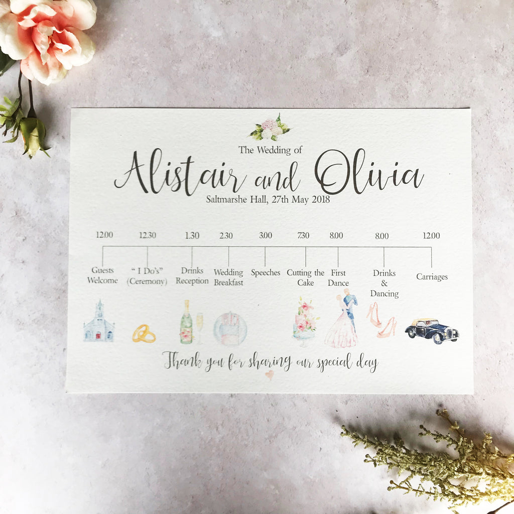Custom Printed Wedding Sign