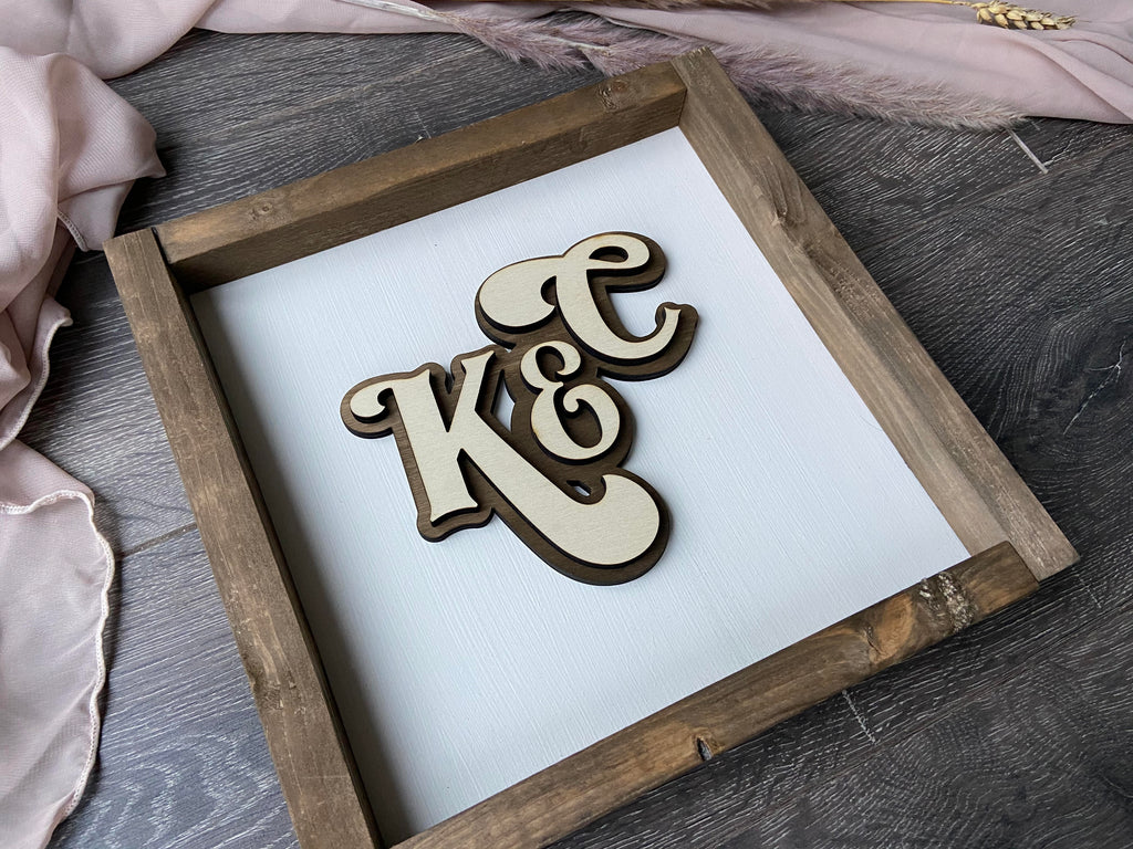 Initials Personalised Rustic Sign  ,Farmhouse Sign