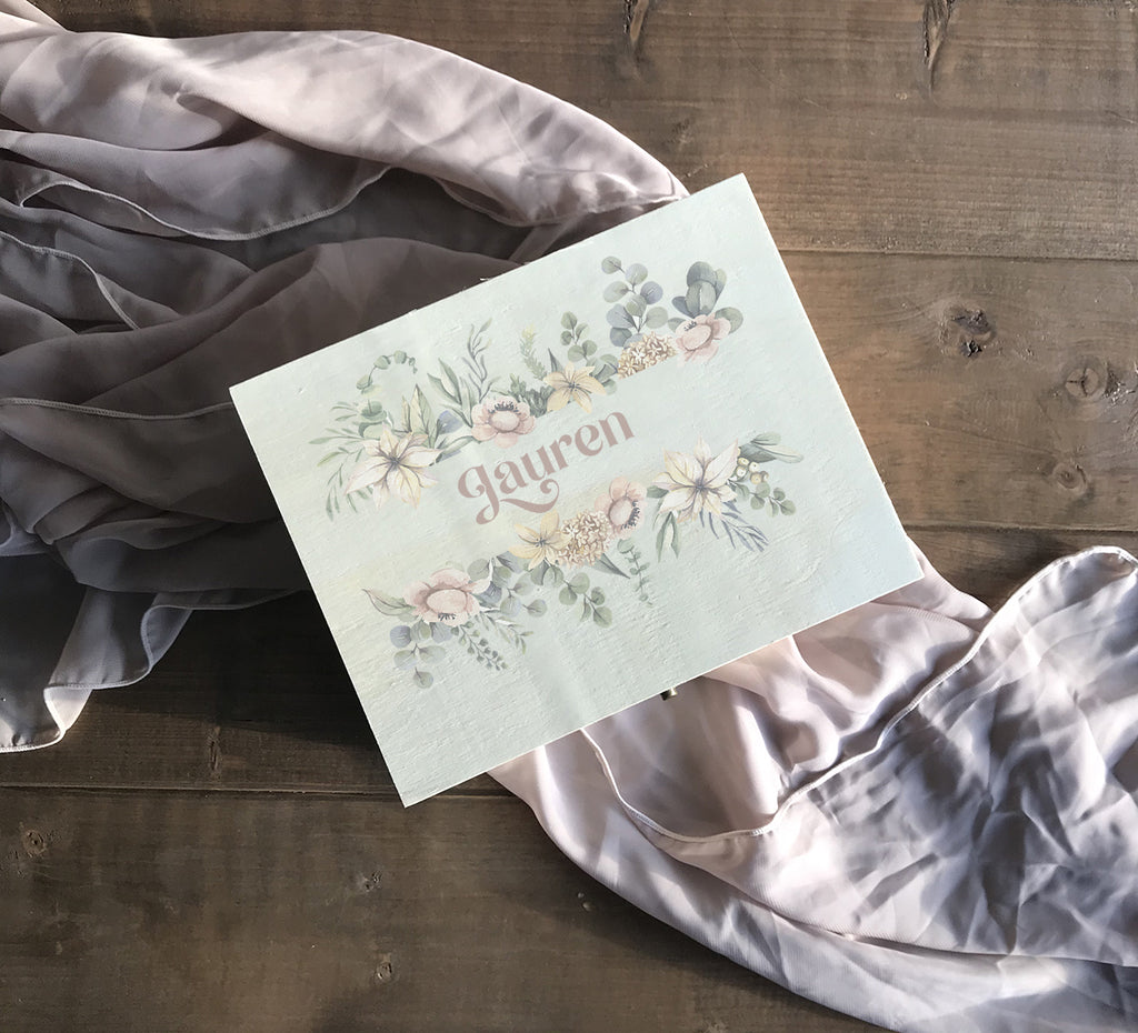 Delicate Watercolour Floral  Keepsake Gift