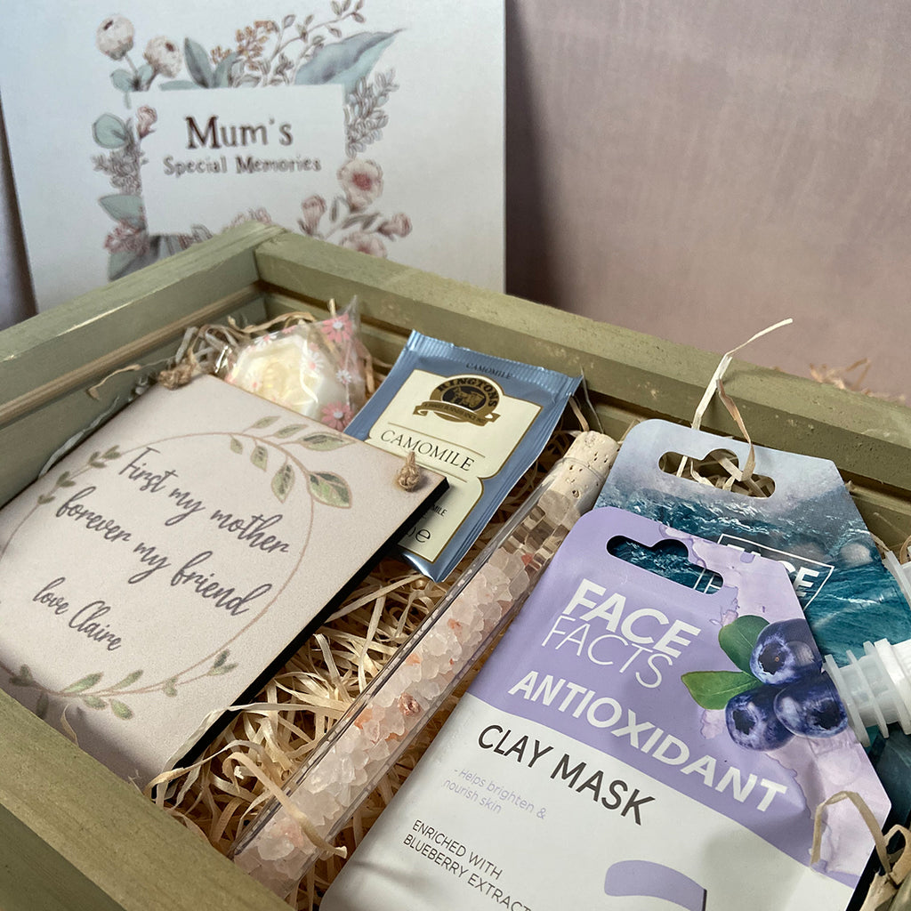 Mini Spa Day at Home - Medium Keepsake Box and at Home Spa Day