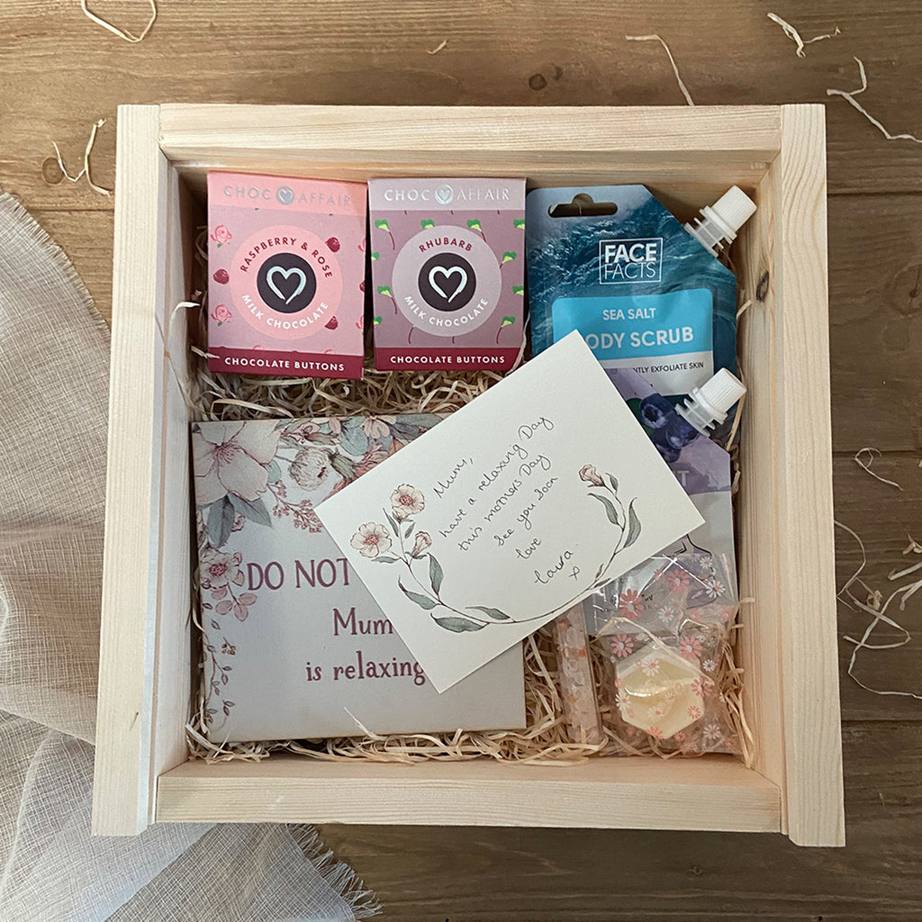 Mothers Day Pamper Hamper - Large Keepsake Box and at Home Spa Day