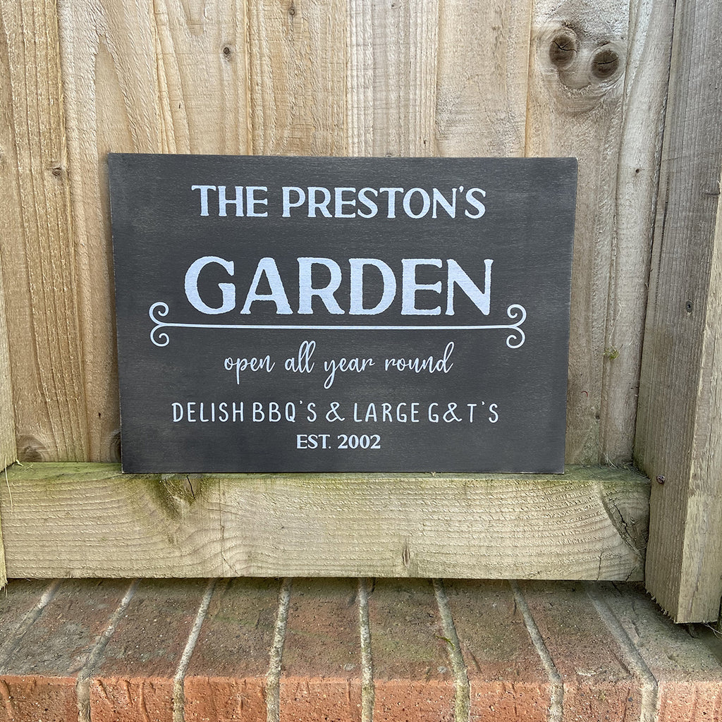 Garden Sign - Personalised with family name