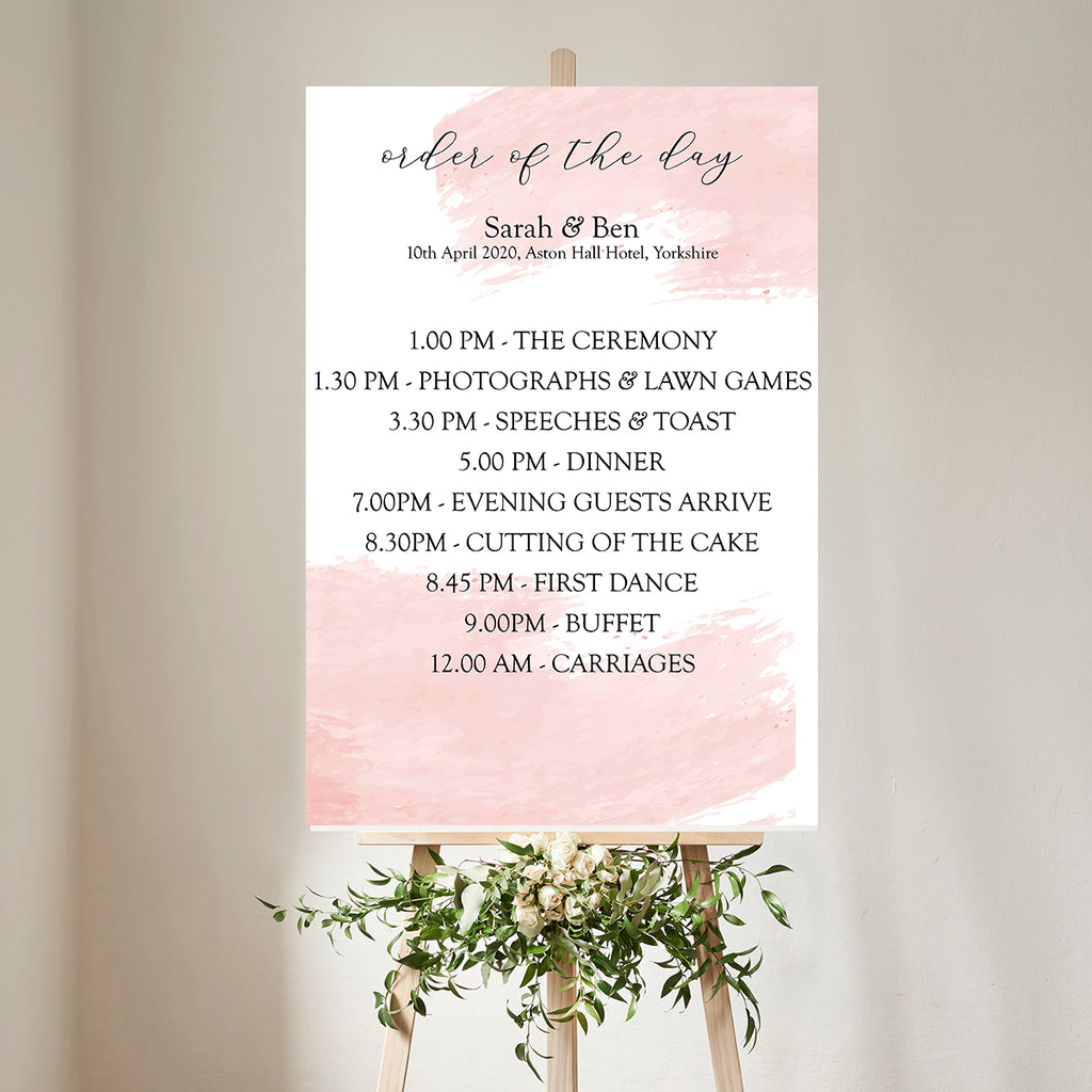 Wedding Decor Bundle - Pink Watercolour