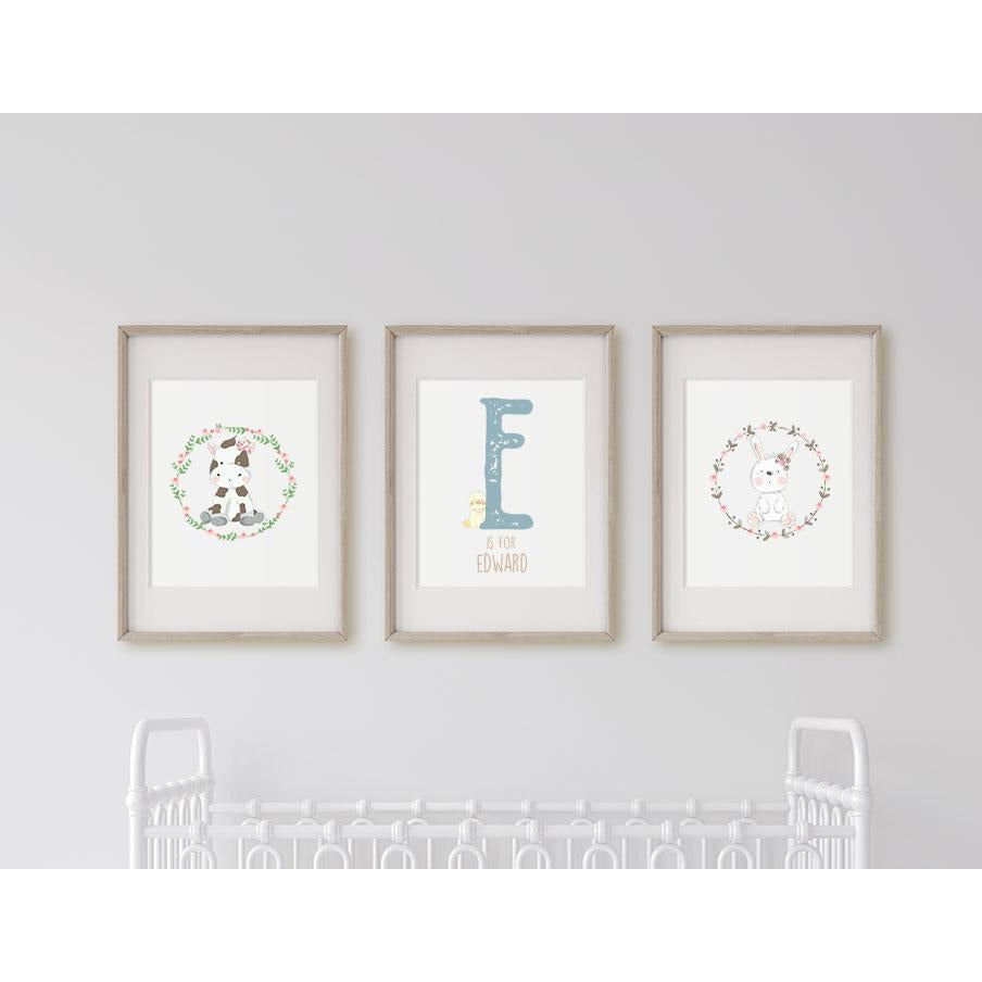 Personalised  Trio of Nursery Prints