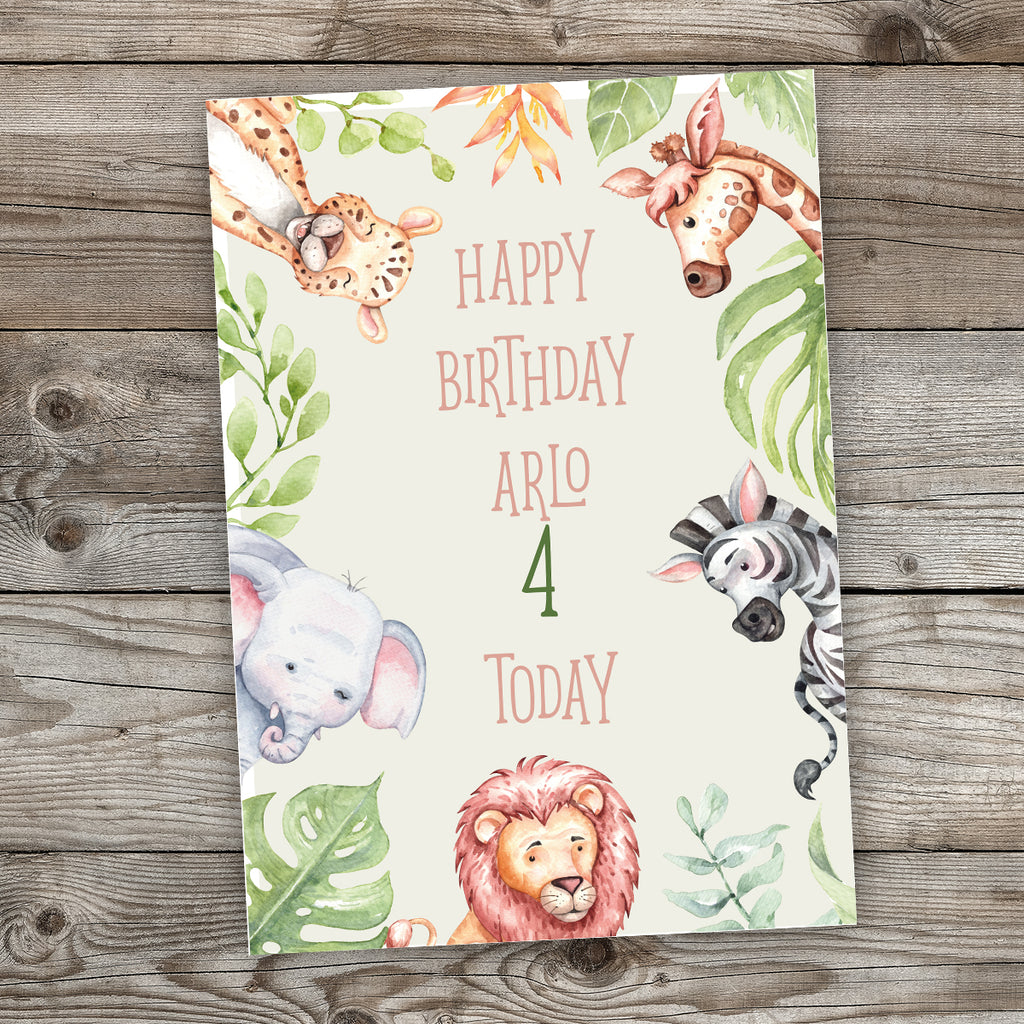 Safari Birthday Party Sign