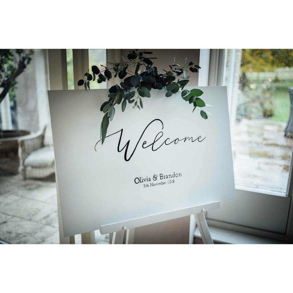 Hand Painted Wedding Welcome Sign