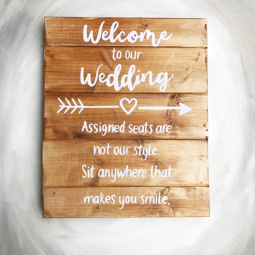 Custom Wooden Wedding Sign
