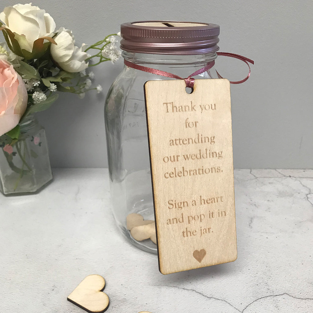 Wish Jar Wedding Guestbook