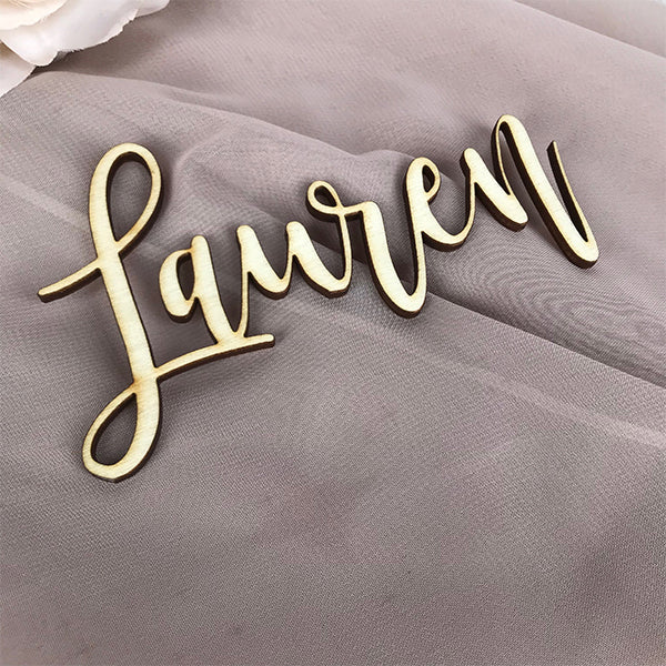 Wedding Place Name  Wooden Script Style