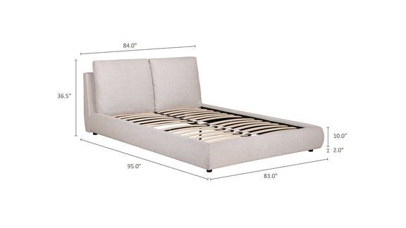(PRE-ORDER) Cloud Bed, King Sand