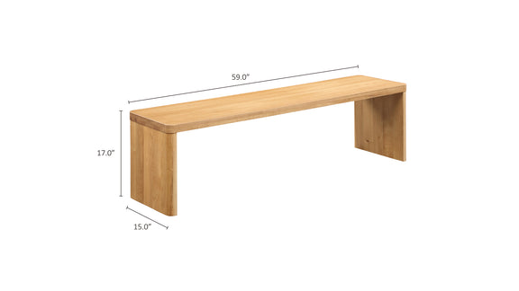 (PRE-ORDER) Form Bench, White Oak